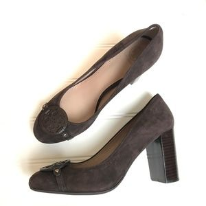e5bd89825ecaf Tory Burch Shoes - Tory Burch Coconut heel Mini Miller Brown Suede